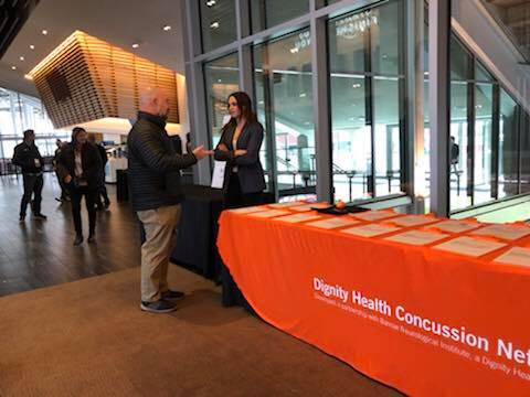 Dignity Health Concussion Network at conference.